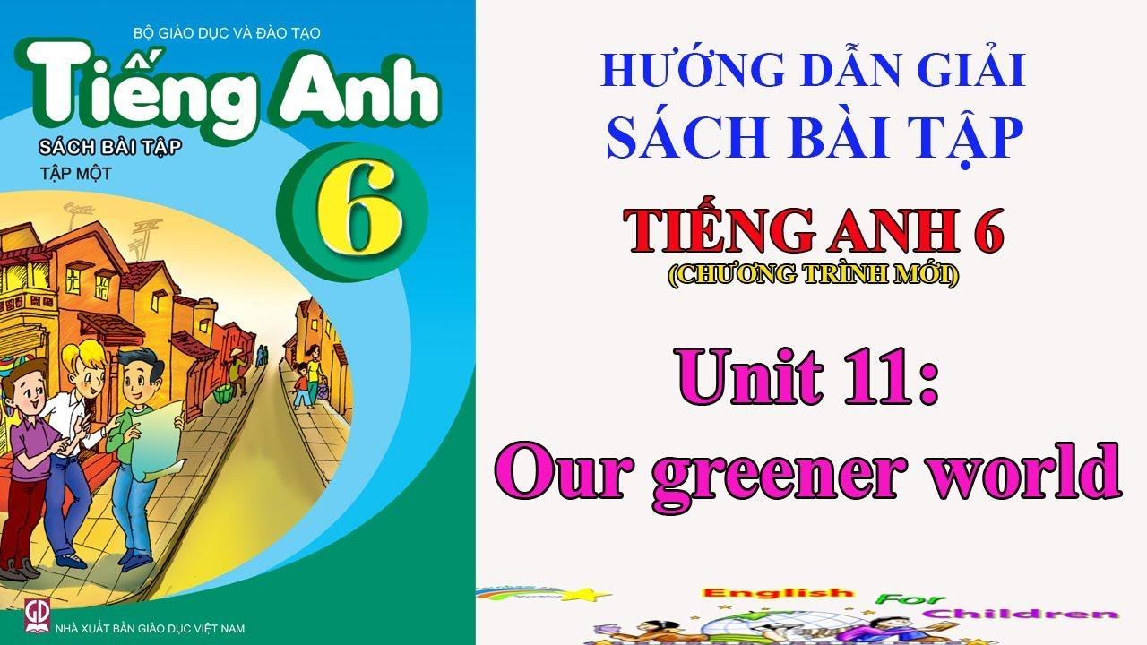 Sách bài tập tiếng Anh lớp 6 - Unit 11: Our greener world || Hướng dẫn giải bài tập tiếng Anh 6