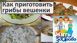 как приготовить грибы вешенки  Елена Малышева в программе