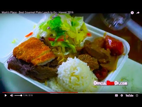 Mark's Place - Best Gourmet Plate Lunch To Go - Hawaii 2016