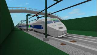 ROBLOX TGV High Speed Train Crash en stop motion