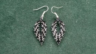 Russian leaf with delica beads earrings video version beading tutorial