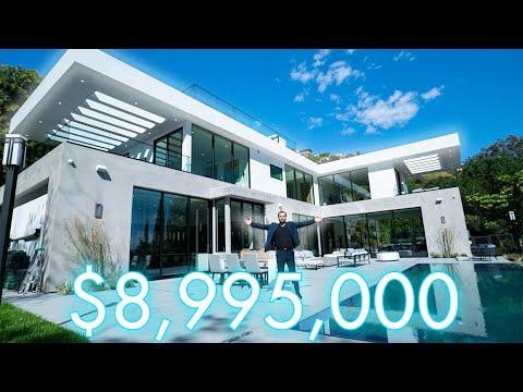 $8,995,000 HOLLYWOOD HILLS Mansion Tour