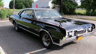 1967 Oldsmobile 442 For Sale  Rare Black on Black  Numbers Matching 400/350hp