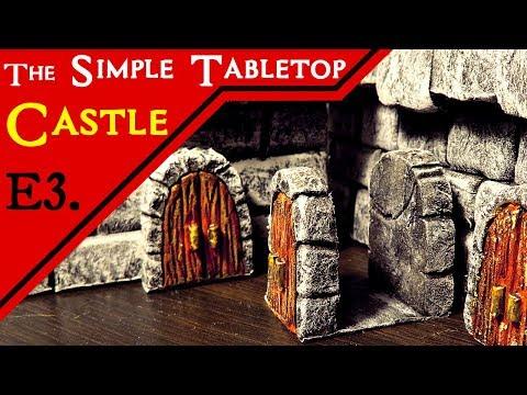 Modular Doors for the Simple Miniature Castle Terrain for D&D (E3)