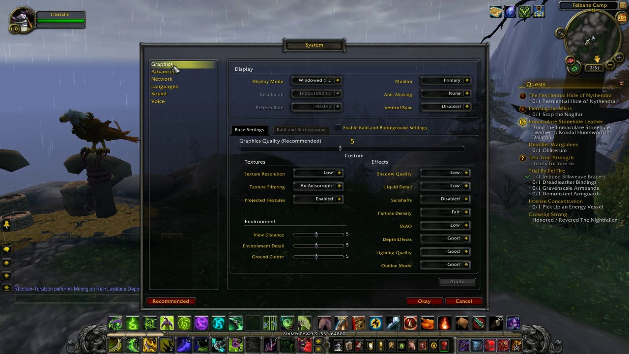 World of Warcraft How to Fix Patch 7 1 Change to Default UI Size (Scale)  Setting Troubleshoot