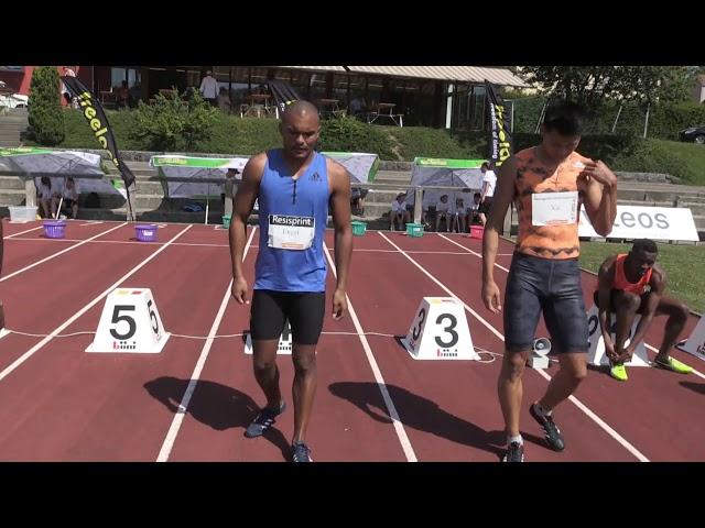 Résisprint International La Chaux-de-Fonds: 100m Vorlauf Männer 1. Serie