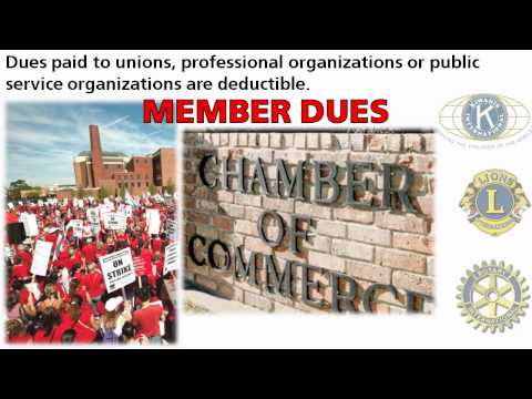Are Union, Professional, or Organizational Dues Deductible on My Taxes?
