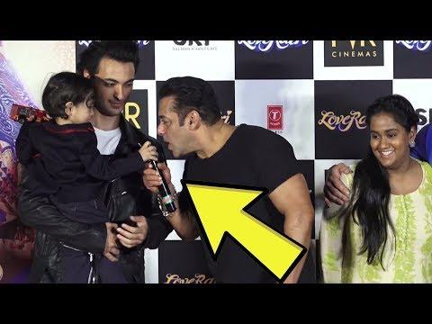 Salman Khan's CUTE Funny Moments With Arpita Khan's Son Ahil At LOVERATRI Trailer Launch