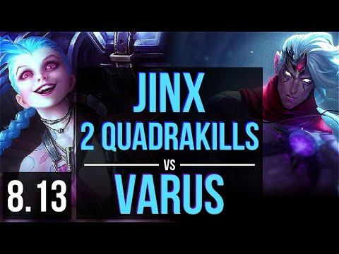 JINX vs VARUS (ADC) ~ 2 Quadrakills, KDA 21/1/6, Legendary ~ Korea Master ~ Patch 8.13