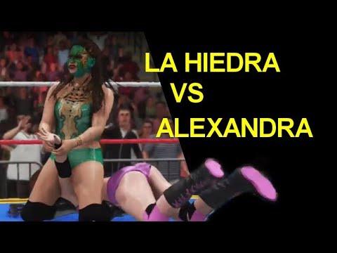 WWE 2K18 La Hiedra vs Alexandra