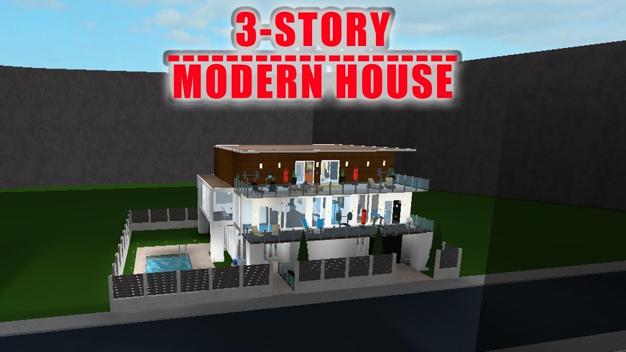 ROBLOX   Bloxburg: 3-Story Modern House (143k)   Speed ...