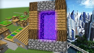 minecraft как сделать портал в город