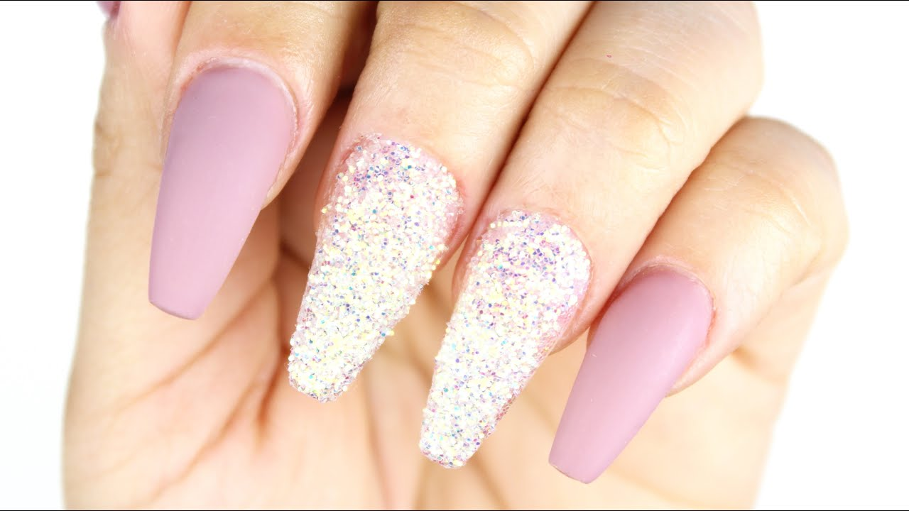 HOW TO: Sugar Effect Nails ♥ - YouTube