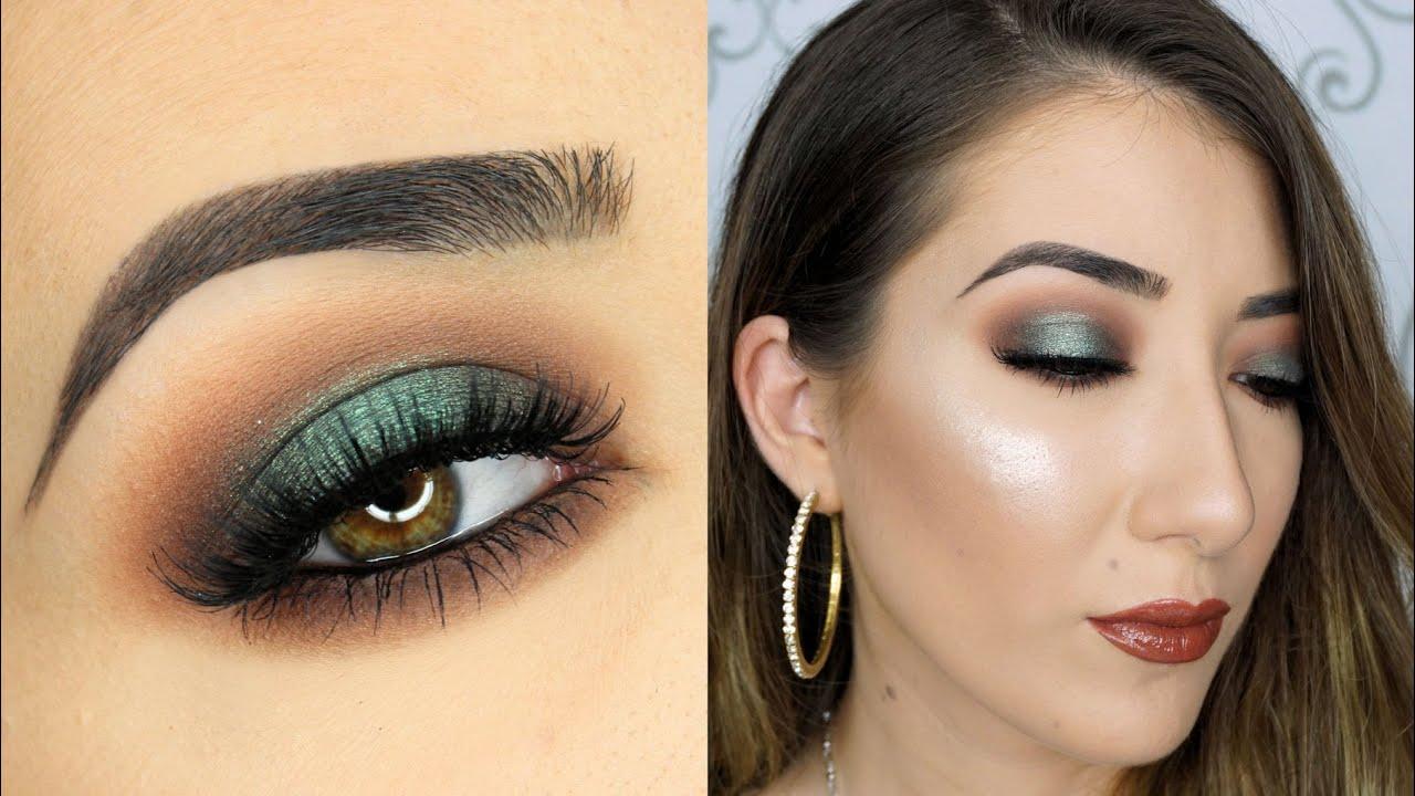 smokey eyes with green and browns makeup tutorial | saubhaya