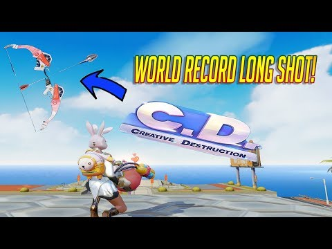 WORLD RECORD BOW KILL + ALL BOW WIN CHALLENGE! (Creative Destruction)