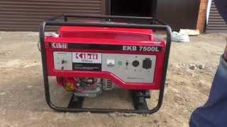 Обзор бензинового генератора HONDA EKB7500 SE 6кВА www.realsolar.ru