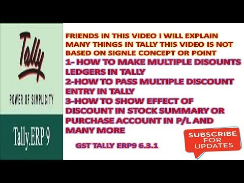 MULTIPLE DISCOUNT ENTRY IN TALLY ERP9 6.3.1 - DISCOUNT ENTRY IN TALLY,  TALLY TRICKS