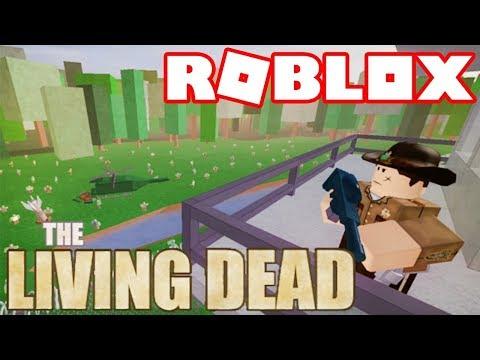 Roblox → SOBREVIVENDO NO THE WALKING DEAD !! - The Living Dead 🎮