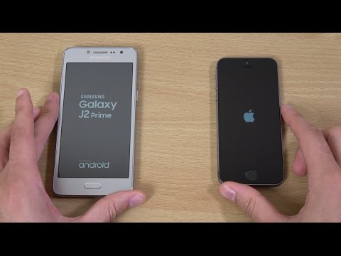 Samsung Galaxy J2 Prime vs iPhone 5S iOS 10.2 - Speed Test!