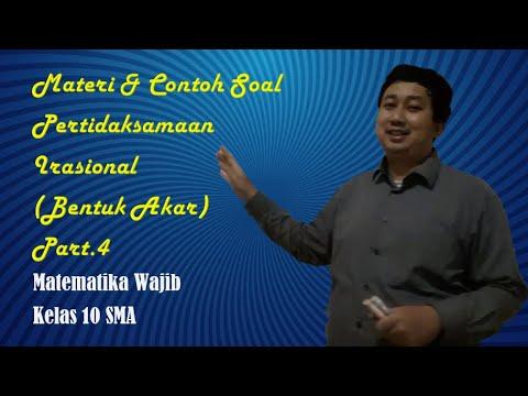 Belajar Matematika : Materi & Contoh Soal Pertidaksamaan Irasional (Bentuk Akar) Part 4