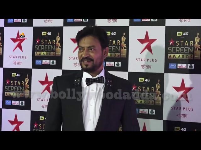 Irrfan Khan Interview At Star Screen Awards - Star Plus Awards Show