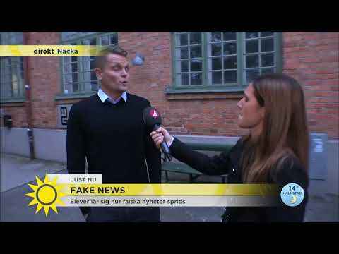 "Ny svensk studie granskar ""fake news"" - Nyhetsmorgon (TV4)"
