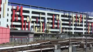 2020.1.4(土)16:50 クアラルンプールのLRTアンパン線(路線番号3番)【屋根付きの車両基地】