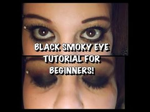 BLACK SMOKEY EYE TUTORIAL FOR BEGINNERS! || Its Blaize