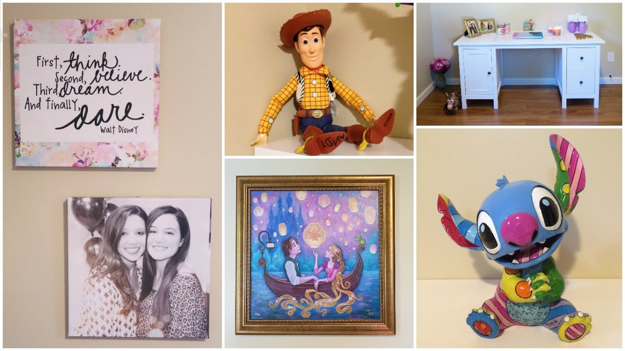 My disney themed office room tour updated youtube for Disney office decor