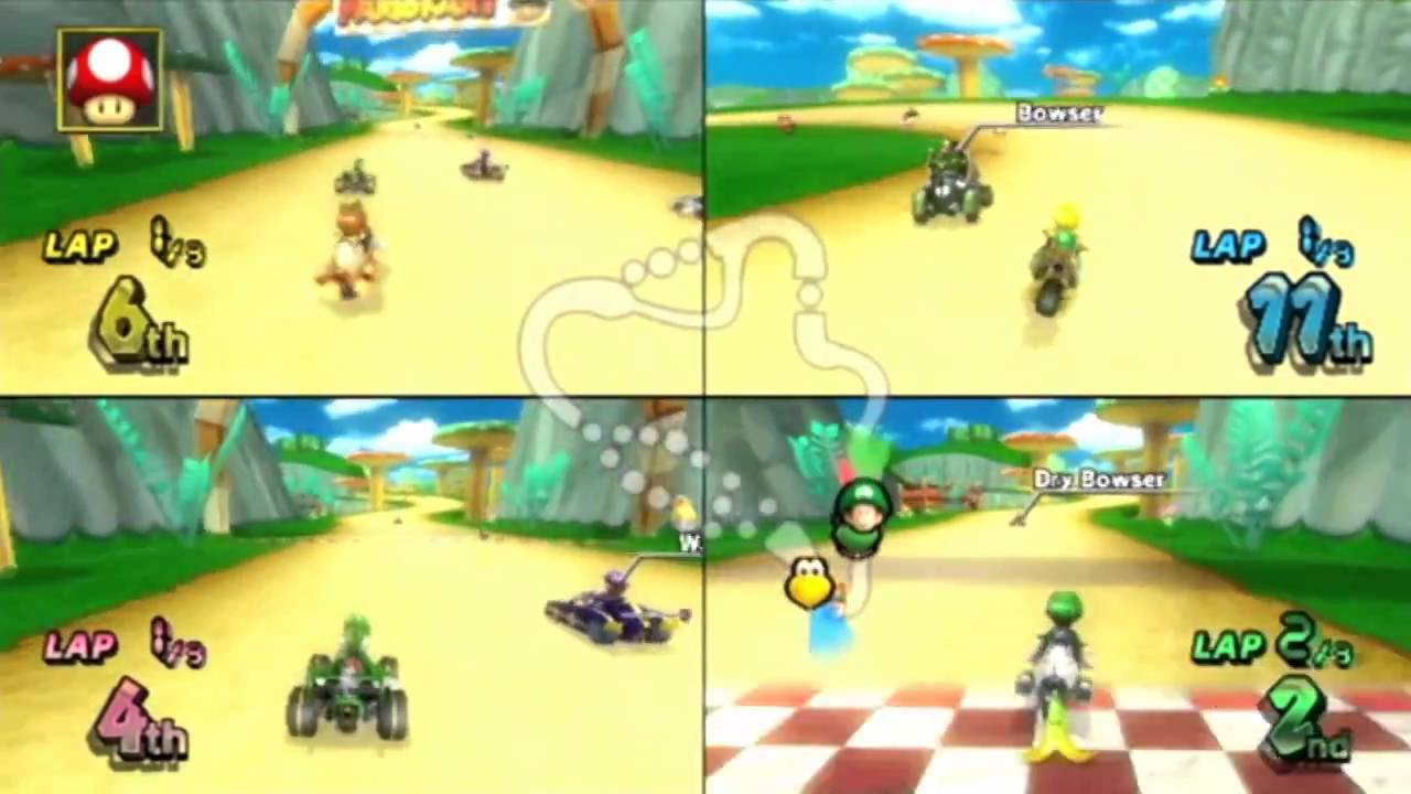 kart fjorda Mario Kart Wii 4 Player Fun!   YouTube kart fjorda