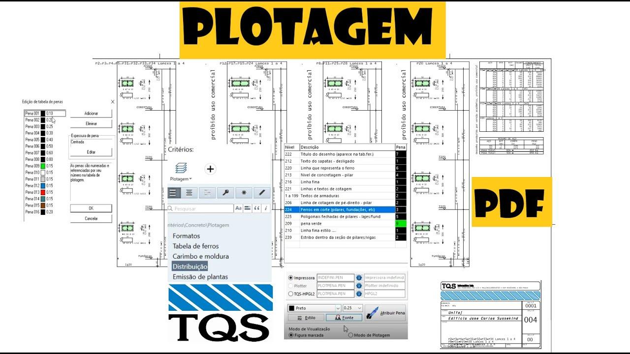 Download TQS: PLOTAGEM, CONFIGURAÇÃO E GERAÇÃO DOS PDFs