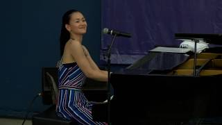 Yuko Mabuchi on keys-LIVE jazz at Juneteenth Fest