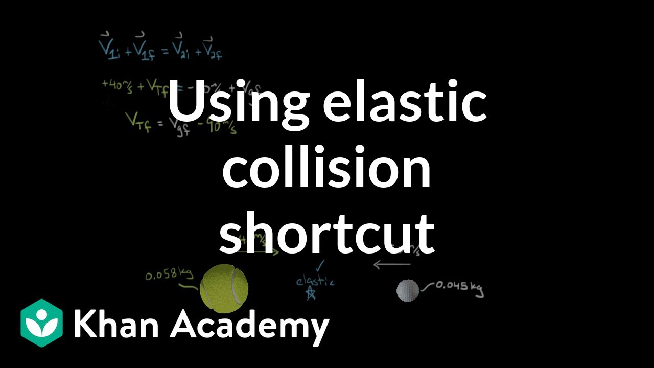 How To Use The Shortcut For Solving Elastic Collisions Video Khan Academy