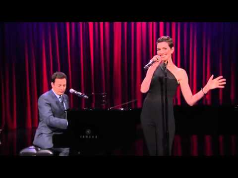 Jimmy Fallon & Anne Hathaway Sing Broadway Versions