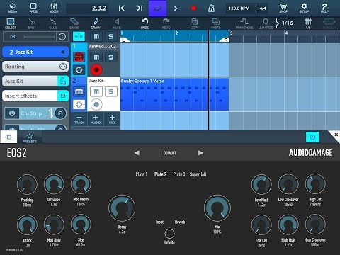 Eos 2 Studio Quality Reverb By Audio Damage Demo for the iPad