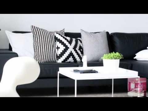 Контраст черного и белого цвета в интерьере
