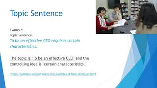 Reading and Writing Skills - Topic Sentence - 02
