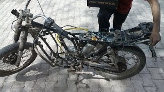 INDIA FIRST ELECTRIC BIKE FROM JUNK