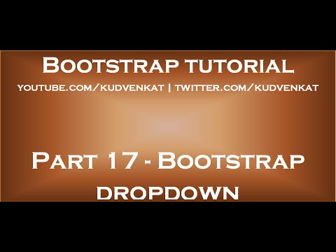 Bootstrap dropdown
