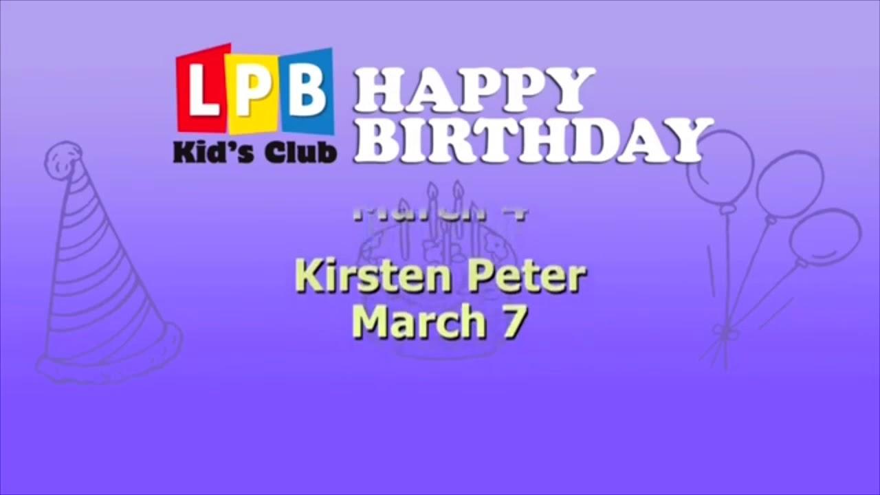 Lpb Kids Club Happy Birthday Id