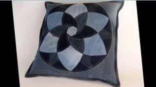 Подушки для настроения  Шьем подушки из старых джинсов(Маленькая декоративная подушка - оригинальное и функциональное украшение дома. Подушку из старых джинсов..., 2015-06-04T06:38:41.000Z)