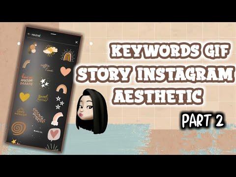 Instagram Gifs Sticker Ideas Aesthetic 2020 Part 2 Youtube