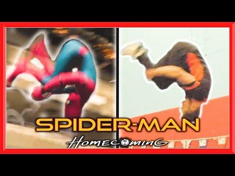 SPIDERMAN Movie Stunts In Real Life (Homecoming) | Flips & Kicks
