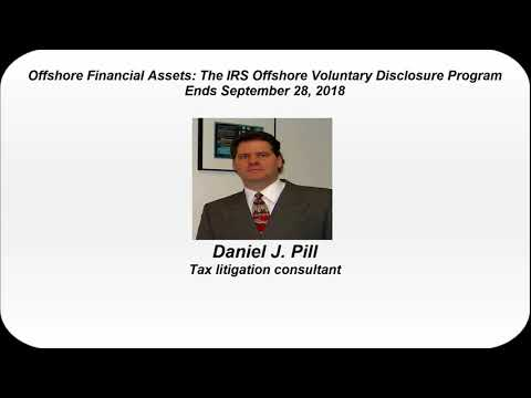 Offshore Financial Assets: The IRS Offshore Voluntary Disclosure Program Ends September 28, 2018