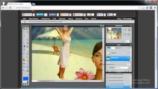 Фотошоп онлайн - изучаем инструменты ч.1 (Урок 10)