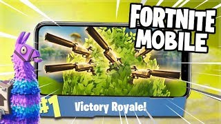 THE SUPER SECRET POWER OF THE BUSH! - Fortnite Battle Royale MOBILE