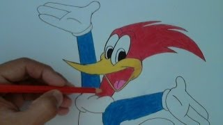 How to Draw Woody Woodpecker