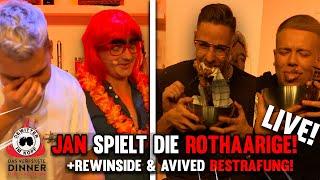 Tourette SPIELT die ROTHAARIGE & DIE BESTRAFUNG! Gewitter im Kopf Live Show! | DAS VERF$%§TE DINNER