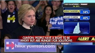 Hillary Delivers Concession Speech After NH Loss