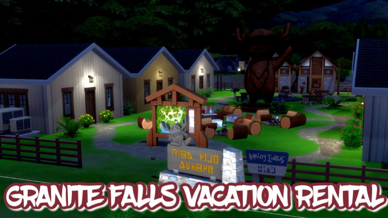 Granite Falls Vacation Bungalows 🏕🔥The Sims 4 Speed Build ...